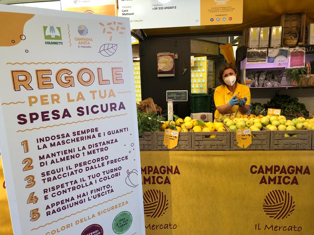 Spesa contadina, riaprono i mercati di Campagna Amica